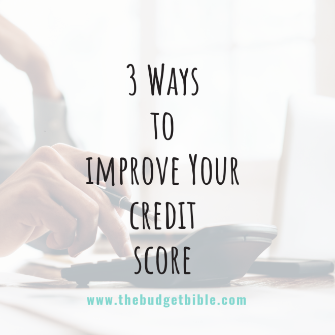 photo of improving credit score