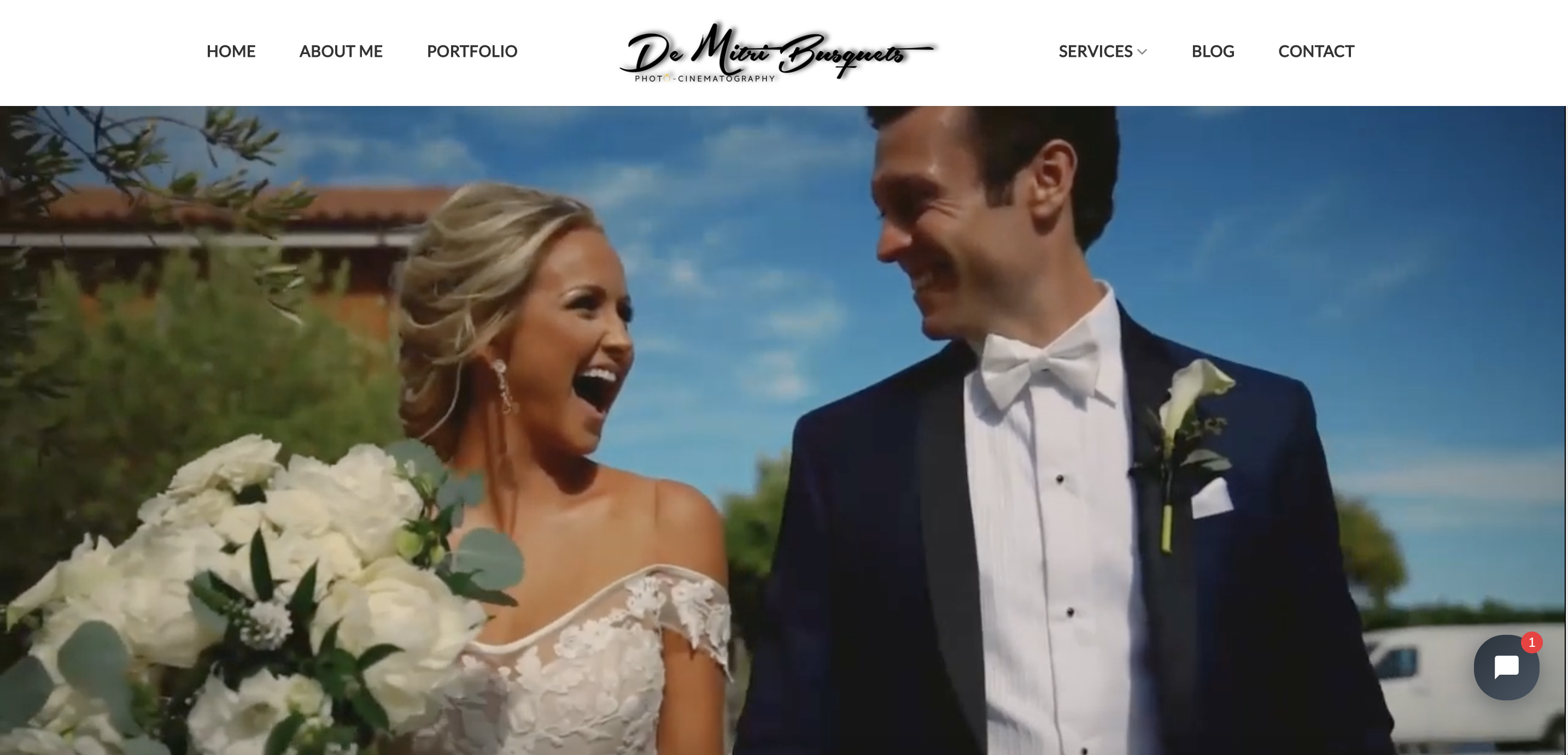 wedding photography website screenshot
